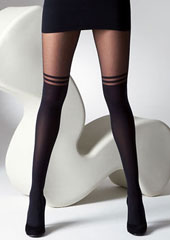 Gipsy Mock Over The Knee With Double Stripe Tights