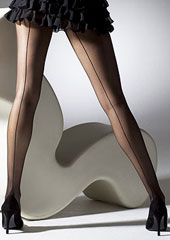 Gipsy Seamed French Heel Tights  Zoom 1