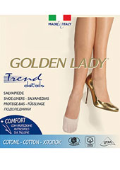 Golden Lady Cotton Footsies 2 Pair Pack