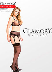 Glamory Powermesh Garter Belt Zoom 4