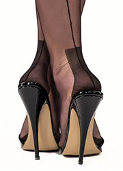 Gio Classic Fully Fashioned Havana Heel Stockings Zoom 2