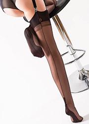 Gio Fully Fashioned Cuban Heel Stockings Zoom 2