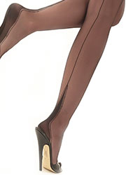 Gio Fully Fashioned Harmony Point Heel Stockings Zoom 2