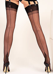 Gio Fully Fashioned Memphis Heel Stockings