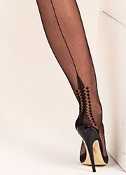 Gio Fully Fashioned Memphis Heel Stockings Zoom 2