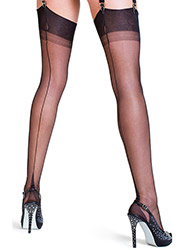 Gio Classic Fully Fashioned Point Heel Stockings Zoom 1