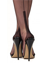 Gio Fully Fashioned Susan Heel Stockings Zoom 2