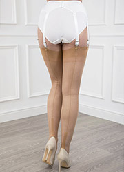Gio Fully Fashioned Susan Heel Stockings Zoom 4