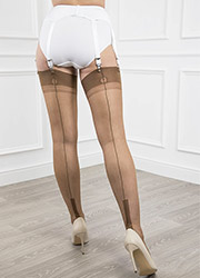 Gio Fully Fashioned Susan Heel Stockings Zoom 3