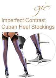 Gio Imperfect Fully Fashioned Full Contrast Cuban Heel Stockings
