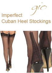 Gio Imperfect Fully Fashioned Cuban Heel Stockings Thumbnail