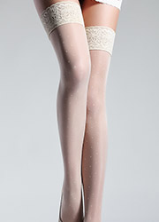 Giulia Allure Plumetis Lace Top Hold Ups N.6 Zoom 2