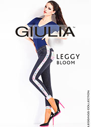 Giulia Leggy Bloom Denim Look Leggings N.3