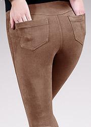 Giulia Leggy Fashion Suede Feel Pants N.1 Zoom 4