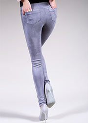 Giulia Leggy Fashion Suede Feel Pants N.1 Zoom 2