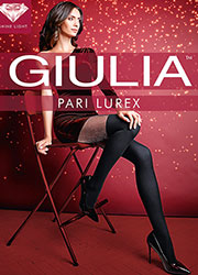 Giulia Pari Lurex Mock Hold Up Tights N.1