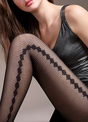 Giulia Rete Vision Fashion Net Tights  Zoom 2