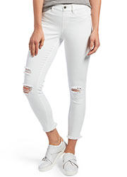 Hue Ripped Knee Denim Skimmer Leggings