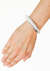 Heaven Sent Metal and Mesh Bangle Zoom 1