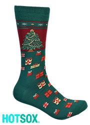 Hotsox Mens Christmas Tree Socks Zoom 2