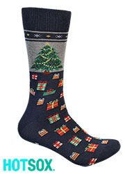 Hotsox Mens Christmas Tree Socks