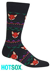 Hotsox Mens Fox Pattern Socks