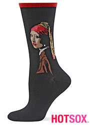 Hotsox Artist Series Womens Girl With The Pearl Earring Socks