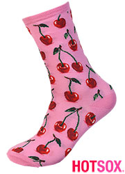 Hotsox Womens Hot Cherry Socks Zoom 2