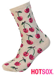 Hotsox Womens Hot Cherry Socks Zoom 3