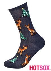 Hotsox Womens Reindeer Scene Socks