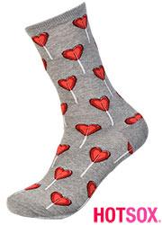 Hotsox Womens Valentine Heart Socks Zoom 2
