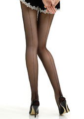 Jonathan Aston Cuban Heel Stripe Backseamed Tights