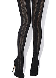 Jonathan Aston Cable Knit Stripe Tights Zoom 2