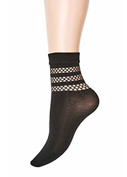 Jonathan Aston Fishnet Stripe Top Anklet