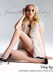 Jonathan Aston Vintage Contrast Seam and Heel Hold Ups