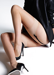 Jonathan Aston Vintage Contrast Seam and Heel Stockings Zoom 2