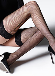 Jonathan Aston Seamed Fishnet Hold Ups Zoom 2