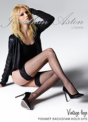 Jonathan Aston Seamed Fishnet Hold Ups Zoom 1