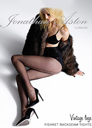 Jonathan Aston Fishnet Tights With Backseam Zoom 1