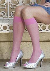 Jonathan Aston Sheer Coloured Knee Highs (Special)