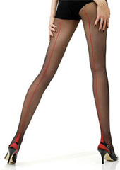 Jonathan Aston Vintage Contrast Seam and Heel Tights Zoom 3