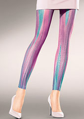 Kunert Fashion Mystic Stripes Footless Tights Thumbnail