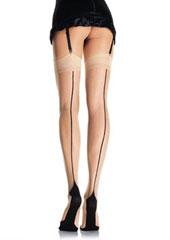 Leg Avenue Cuban Heel Backseam Stockings (9213) Thumbnail