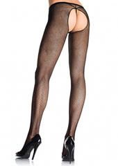 Leg Avenue Fishnet Crotchless Tights (1404)