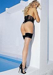 Leg Avenue Backseam With Cuban Heel Stockings (1024) Thumbnail
