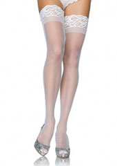 Leg Avenue Lace Top Hold Ups (1022)