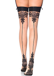 Leg Avenue Baroque Cuban Heel Stockings Zoom 1