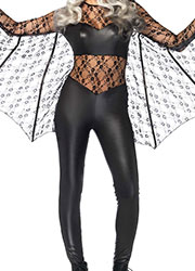 Leg Avenue Black Magic Bat Catsuit With Matching Headband Zoom 2
