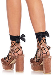 Leg Avenue Fence Net Bow Anklets Zoom 2