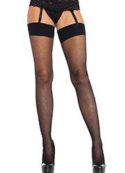 Leg Avenue Fishnet Stockings With Comfort Band